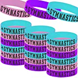 24PCS Gymnastics Party Rubber Bracelets, Sport Gymnastics Game/Girl Dance Party Baby Shower Wars Birthday Party Supplies Decorations Gifts Prize Goodie Bag Favors Inspirational Silicone Wristbands for Teens