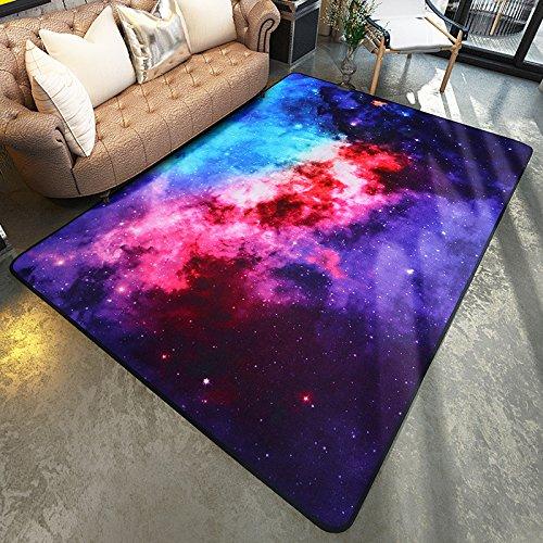 GRENSS Bunte Teppiche Satelliten Galaxy Space universelle Muster Bereich Teppich Rutschfeste Fußmatte Tür zum Schlafzimmer Wohnzimmer, 1600 mm x 2300 mm