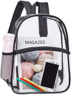 Heavy Duty Clear Backpack, Transparent PVC Concert Mini Backpacks, See Through Outdoor Bag for Security Travel, Sports Eve...