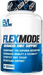 Evlution Nutrition Flex Mode, Advanced All-in-One Joint Support, Mobility and Pain Relief, Glucosamine, Chondroitin, Turme...