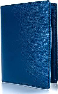 Inspiring Adventures Luxury Leather Passport Holder, RFID Blocking Wallet Cover, Gift Box