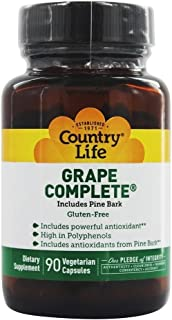 Country Life Grape Complete Pine Bark, 90 Vegetarian Capslues