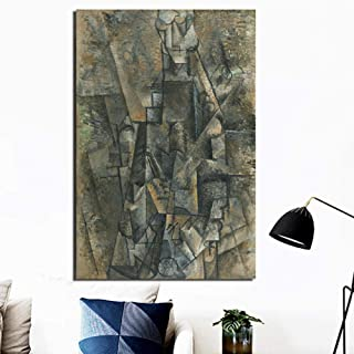 Chihie Pablo Picasso Hombre con un Clarinete Arte de la Pared Lienzo Pintura póster Impresiones Pintura Moderna Pared Imagen para Sala de Estar decoración para el hogar 60cm x90cm No Frame