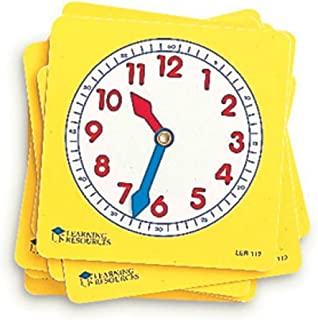 Learning Resources Pupil Clock Dials, Set of 10, Set of 1
