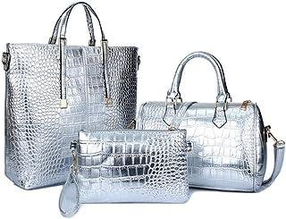 AHDA Damenhandtasche, 3er Set, Mode PU-Handtasche, Eine Schulter, Umhängetasche