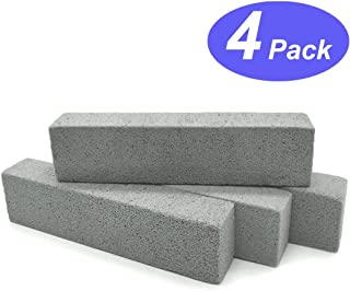 Pumice Stone Toilet Bowl Cleaner - Hard Water Stains Remover Pack of 4