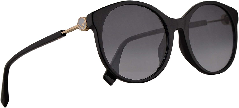 Fendi FF0362 F S Sunglasses Black w Grey Azure Lens 56mm 807GB FF 0362 F S