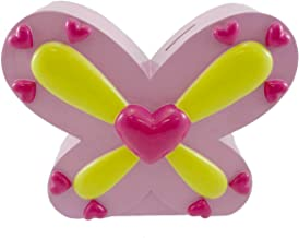 BANK Multi Pink Hearts Resin Resin Butterfly Coins 119379
