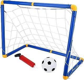 Fsskgx Soccer Goal, Portable Detachable Mini Football Door Goal Post Net for Kids Sports Soccer Toys Set - 23.6 x 16.1 x 11.4 inch