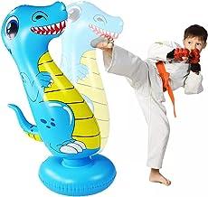 Bestevery Opblaasbare ponszak,47 inch opblaasbare dinosaurus ponszak zandzak speelgoed kinderen zandzakken boksen doelzak ...