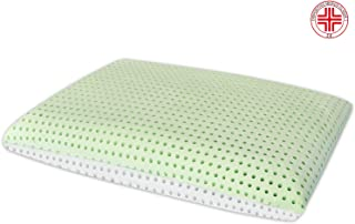 "Marcapiuma - Double Aloe Memory Pillow - Soap-Shaped - Breathable Height 5,5"" 14 cm - 100% Cotton Cover - Pillow for Neck and Cervical Pain - 100% Made in Italy"