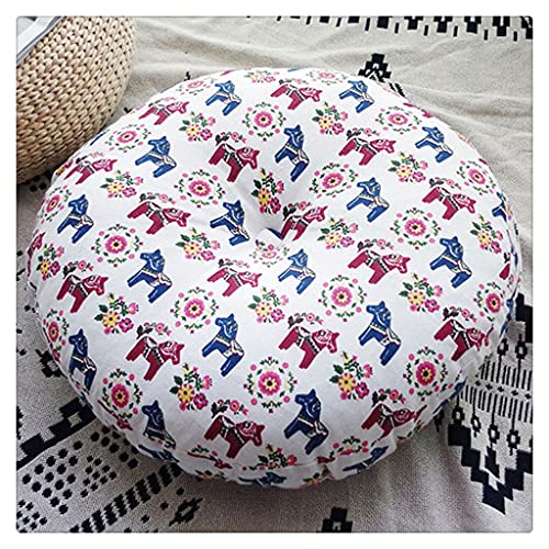DFSDG El cojín del futón de Tierra Grueso Redondo para el colchón de Silla de Tatami del hogar es Suave, cómodo y fácil de Limpiar. (Color : Style A)