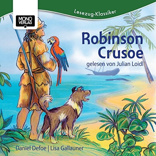 Robinson Crusoe audiobook cover art