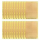 uxcell ユニバーサルボード PCBボード 7x9cm 厚さ1.2mm ガラス繊維板 片面プロトボード イエロー 20個入り