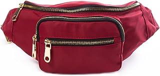 HKS-HOMME Nylon Water Resistant Outdoors Travel Waist Fanny Bag Pack for Men&Women