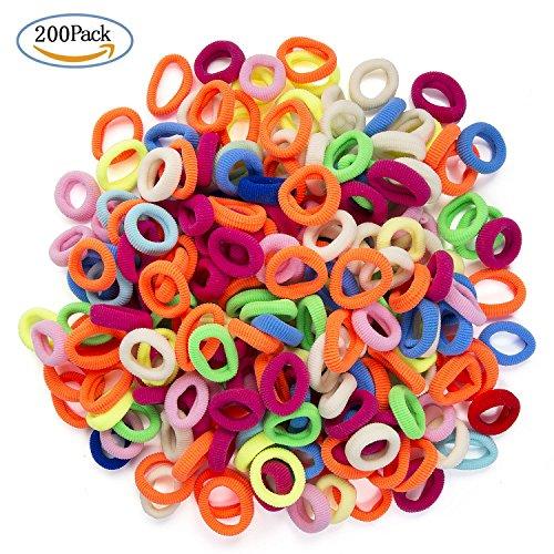 Elastici per Capelli Bambina Piccoli, Diealles 200 Pezzi Multi Colore Elastici per Capelli Piccoli per Bambine, Vari Colori