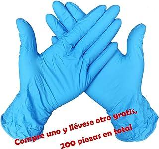 Nokiwiqis Guantes Desechable Nitrilo sin polvo, en Small, Medium, Large Caja 100 Unidades (L, Azul)