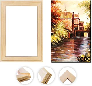 Solid Canvas Stretcher Frames, Premium Pine Wood Strips Bar Set, for Oil Paintings Poster Prints, DIY Arts Accessory Mater...