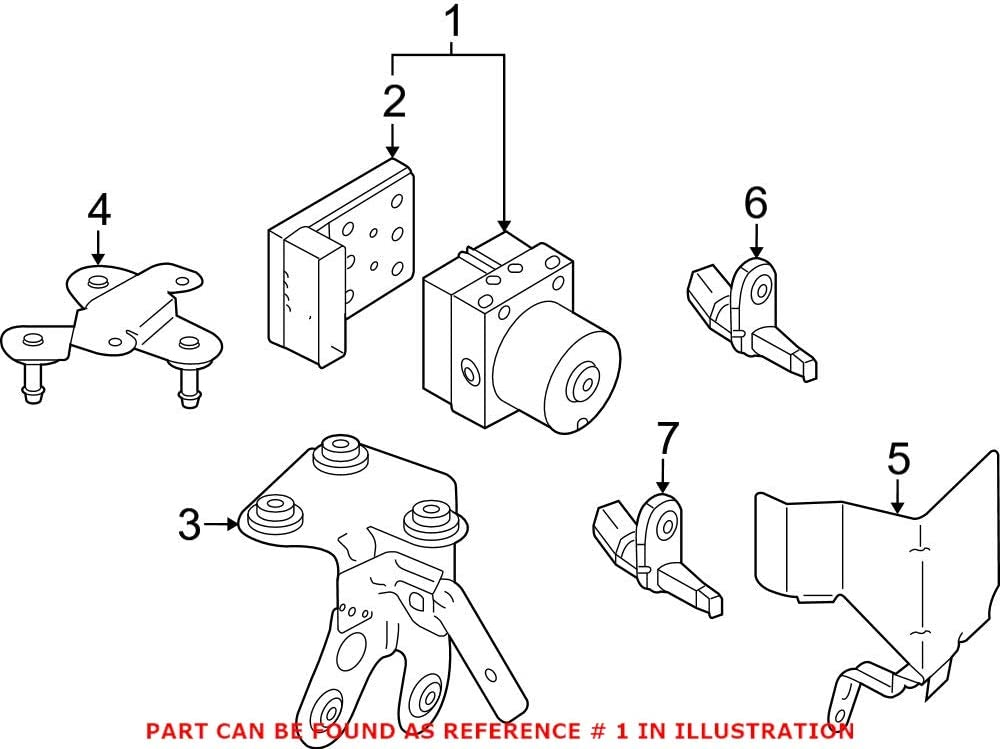 Genuine OEM ABS Hydraulic 1K0614517ATBEF Memphis Mall Max 49% OFF Assembly Volkswagen for