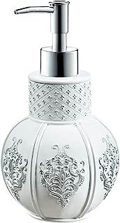 """(Hand Soap Dispenser) - Creative Scents Vintage White Hand Soap Dispenser (4.25"""" x 4.25"""" x 7.75"""") Countertop Decorative Lo..."""