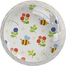 AITAI Leuke bijen ronde kast knop 4 Pack trekt handgrepen