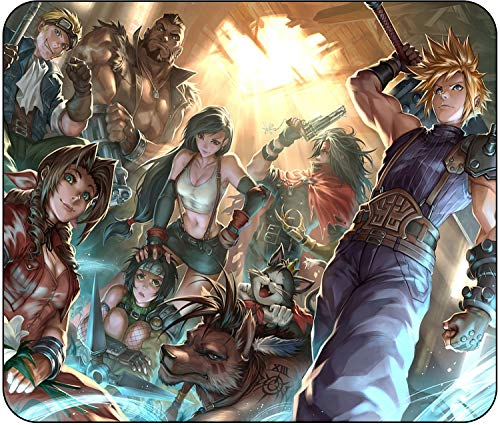 Final Fantasy VII - Cloud & Gang - Collage Mouse Pad - Standard Size (10' x 8.5') - Non Slip