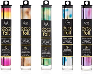 Deco Foil - Watercolour Transfer Sheets - Amber, Emerald, Amethyst, Lapis & Summer Rainbow - Bundle of 5 iCraft Speciality...