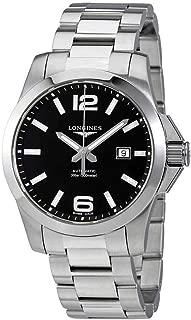 Longines Conquest 黑色表盘自动男式手表 L37784586