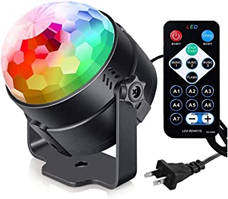 Party Lights with Remote Control Plug in Dj Lighting RBG Disco Ball Strobe Lamp 7 Modes Stage for Home Room Dance Parties ...