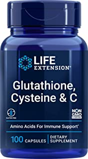 Life Extension Glutathione, Cysteine and C 750 mg, 100 Vegetarian Capsules