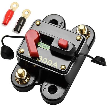 Qiorange 60 300a 60amp 300amp Auto Marine Boat Bike Stereo Audio Leistungsschalter Reset Sicherung 12v 24v Dc 60a Auto