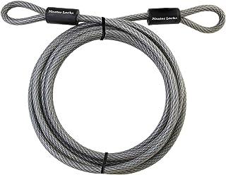 Master Lock 72DPF Loop Ended Braided Steel Bike Cable Lock, 4.6 m Length x 10 mm Diameter Grey