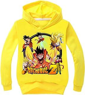 Silver Basic Dragon Ball la Saga Felpa Goku Bambina Manica Lunga Cartone Hoodie