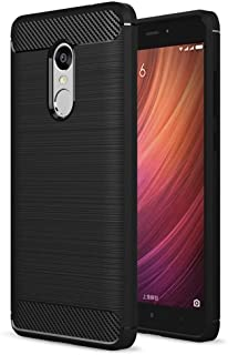 ZAPCASE Back Cover Case Compatible for Xiaomi Redmi Note 4 Cases & Covers (Carbon Fibre Rugged Armour Black Colour)