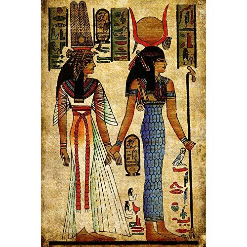 Kits de pintura de diamantes 5D DIY imágenes de personajes egipcios antiguos bordado de punto de cruz mosaico de taladro redondo completo decoración del hogar regalo artístico