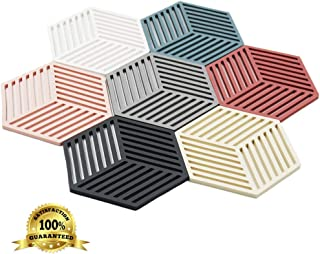 Dine Divine Set of 7 Silicone Trivets   Coaster   Pot Holder   Placemat for Home Kitchen and Dining Table