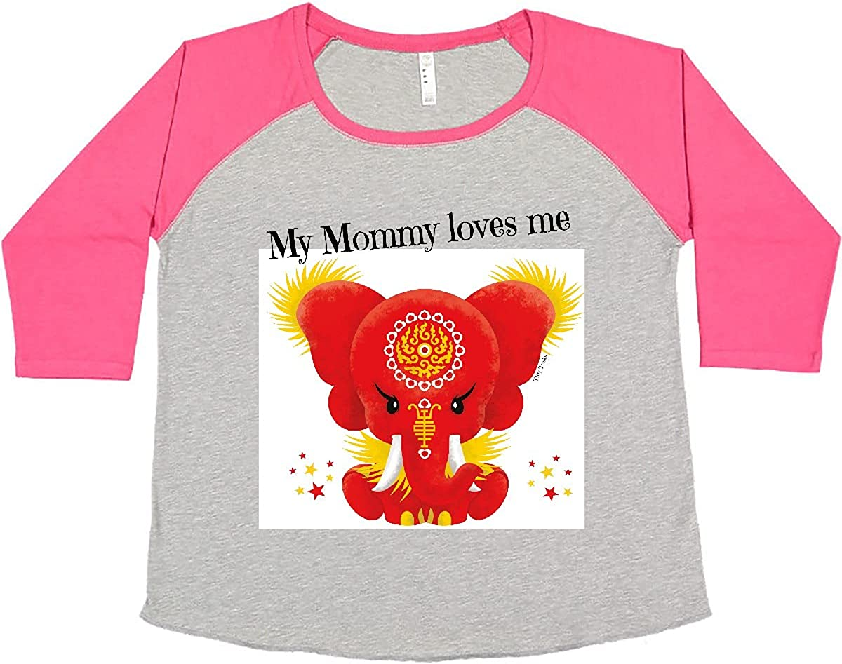 inktastic Da Popular Hong My Mommy Loves Women's Me T-Shir safety Red Plus Size