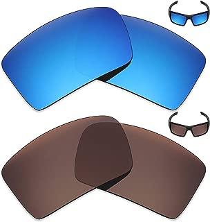MRY 2pares polarizadas Lentes de repuesto para Oakley Eyepatch 2–Gafas de sol, Color Rich Opción Colores