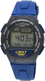 Casio Mens Quartz Watch, Digital Display and Resin Strap W-734-2AVDF (I090)