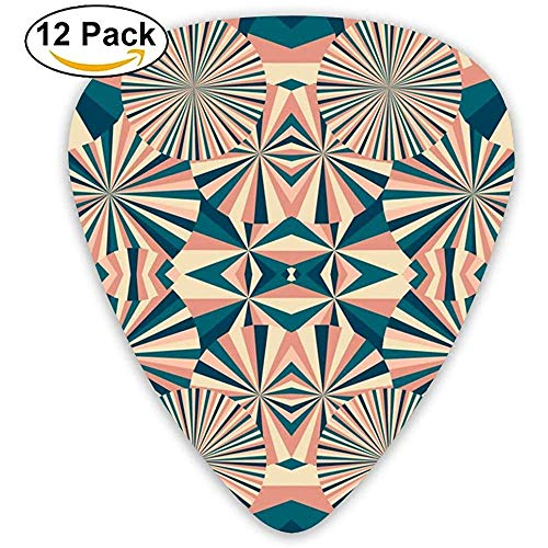 Cirkel Geometrie Behang Gitaar Picks Voor Elektrische Gitaar 12 Pack