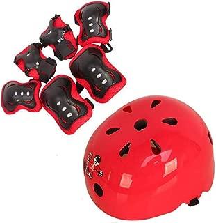 TUPWEL 1Set 7PCS Children Protective Safeguard Knee Elbow Helmet Wrist Gear Pads Roller Cover Support for Outdoor Sports Bike Cycling Skateboard Skating Skate
