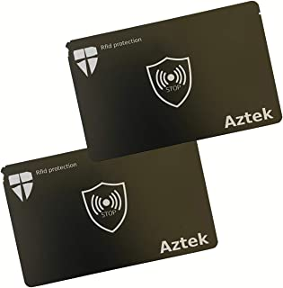 Protección RFID, [2 unidades] tarjetas anti RFID/NFC, protección de tarjetas de crédito, tarjeta de bloqueo RFID para tarj...