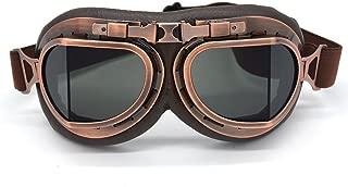 Evomosa Motorcycle Goggles Vintage Pilot Goggles Retro Motocross Goggle Windproof ATV Outdoor Eyewear