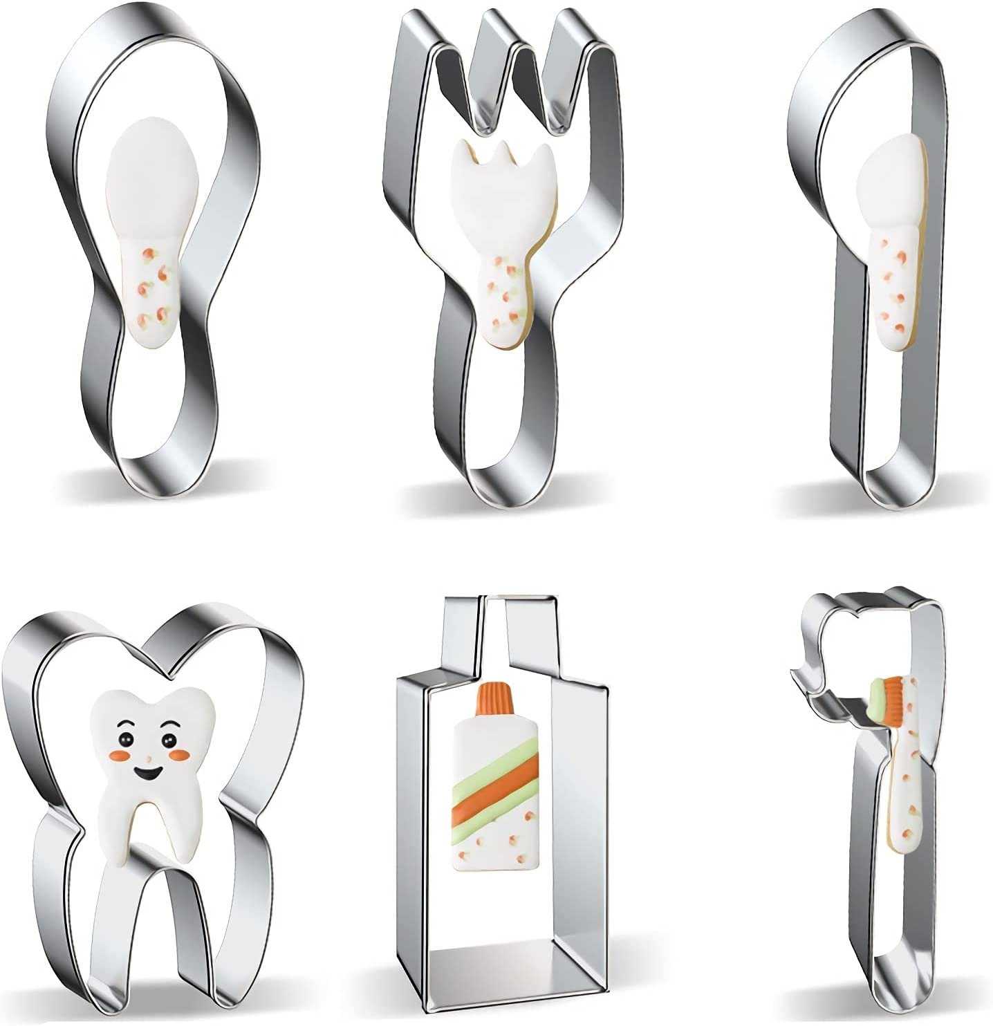 Tooth Toothpaste Toothbrush Shapes Cookie Knife Oklahoma City Mall and Fork Financial sales sale Cutters