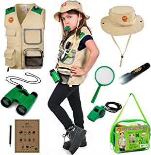 Born Toys Kids Explorer Kit for Boys and Girls with Washable Premium Safari Vest and Adventure kit with Scavenger Hunt