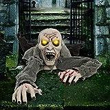 JOYIN Halloween-Dekor leuchtender Zombie Groundbreaker animiert mit Blutfleck und gruseligem Sound, Beste Halloween-Dekorationen, Spukhaus, Rasen, Hofdekoration