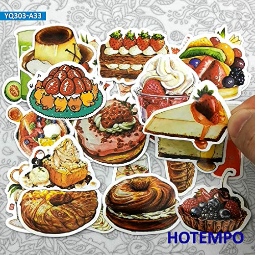 Leuke Yummy Dessert Snoepjes Drankjes Reizen Mini Dagboek Stickers Voor briefpapier Scrapbook Mobiele Telefoon Laptop Art Sticker 33 stks
