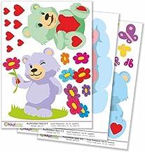 Kiwistar Gelukkige beren wolken totale grootte, muurstickers set vel stickers gekleurd DIN A4 DIN A3Totale oppervlakte: c...