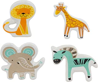 Set of 4 Jungle Animal Knobs – Handmade Cute Cabinet Pulls for Cabinets, Dressers – Handpainted Decorative Ceramic Drawer Knobs for Kitchen Kids Room, Bathroom, Baby Nursery by Artisanal Creations