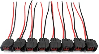AUTOKAY 8pcs EV6 EV14 USCAR Fuel Injector Connector Pigtail Wire for Dodge LS2 LS3 GM Ford